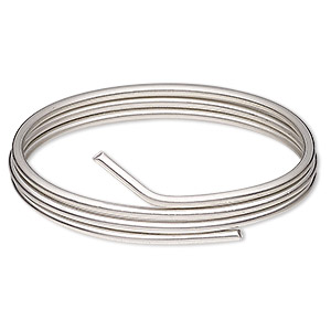 solder wire, canfield pewter-finish™, silver / tin / copper, 2.5-3mm. sold per pkg of 2 feet.