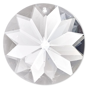 suncatcher, asfour crystal, crystal, crystal clear, 40x40x20mm sun prism dx. sold individually.
