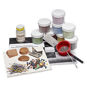 thompson enamel vitrearc opaque enameling starter set. sold individually.
