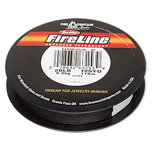 thread, berkley fireline, gel-spun polyethylene, smoke, 0.3mm diameter, 20-pound test. sold per 125-yard spool.