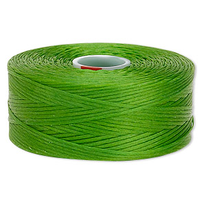 thread, c-lon, nylon, green, size d. sold per pkg of (2) 78-yard bobbins.