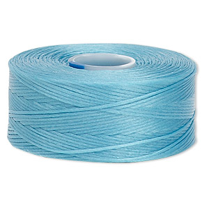 thread, c-lon, nylon, turquoise blue, size aa. sold per pkg of (2) 75-yard bobbins.