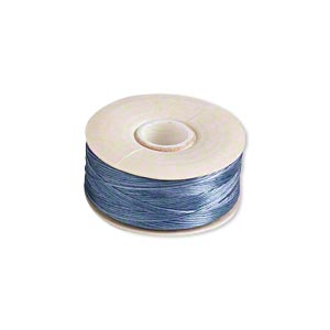 thread, nymo, nylon, royal blue, size d. sold per pkg of (2) 64-yard bobbins.