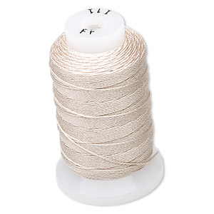 thread, purely silk™, ecru, size ff. sold per 115-yard spool.