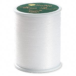 thread, sono, white. sold per 110-yard spool.