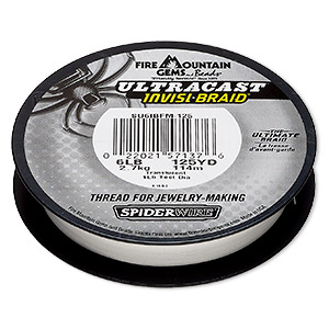 thread, spiderwire, translucent, 0.10mm ultra-cast invisi-braid, 6-pound test. sold per 125-yard spool.