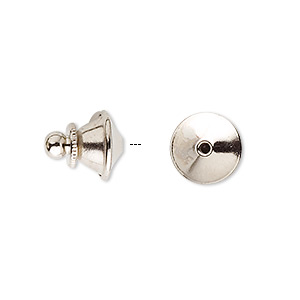 tie tac clutch, nickel-plated brass, 11.5x10mm push-in. sold per pkg of 100.