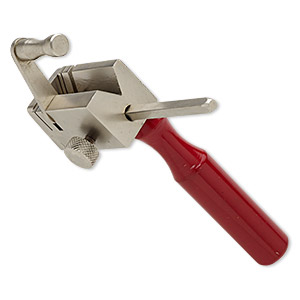 tube cutter vise, powder-coated aluminum and steel, red, 5x4 inches. sold individually.