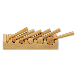 u-channel block, wood, 6-1/2 x 2-1/3 x 1 inch. sold per 7-piece set.