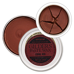 wax paste, gilders paste, coral red. sold per 1-ounce canister.
