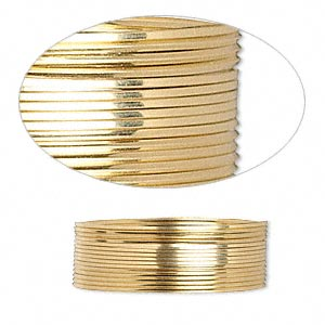 wire, 12kt gold-filled, full-hard, square, 24 gauge. sold per pkg of 5 feet.