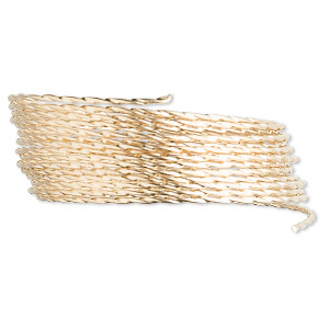 wire, 12kt gold-filled, full-hard, twisted square, 20 gauge. sold per pkg of 5 feet.