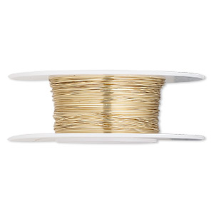 wire, 12kt gold-filled, half-hard, round, 30 gauge. sold per 1/4 ounce spool.