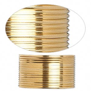 wire, 12kt gold-filled, half-hard, square, 20 gauge. sold per pkg of 5 feet.