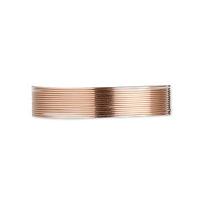 wire, 12kt rose gold-filled, half-hard, round, 26 gauge. sold per pkg of 5 feet.