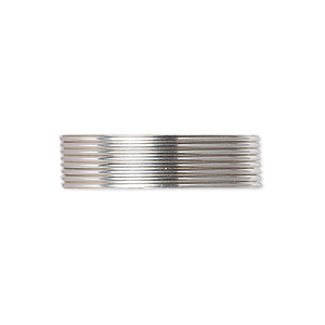 wire, argentium silver, full-hard, round, 20 gauge. sold per pkg of 5 feet.