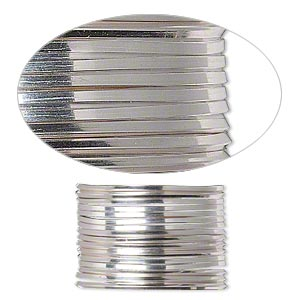 wire, beadalon, stainless steel, 3/4 hard, square, 18 gauge. sold per pkg of 1.75 meters.