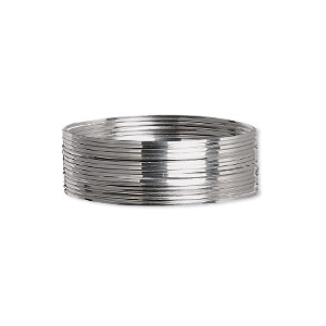 wire, beadalon, stainless steel, 3/4 hard, square, 24 gauge. sold per pkg of 10 meters.