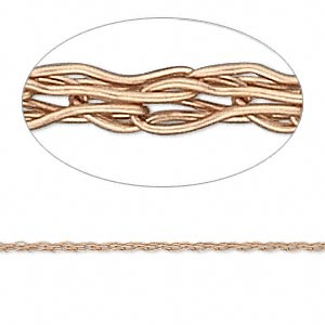 wire, enamel and copper, 1.5mm knit. sold per 25-foot spool.