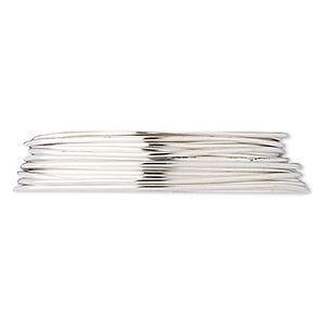 wire, fine silver, dead-soft, round, 20 gauge. sold per pkg of 5 feet.