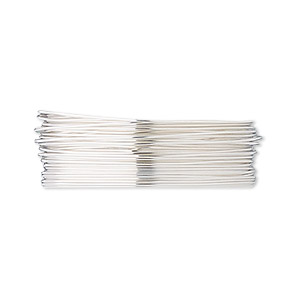 wire, fine silver, dead-soft, round, 26 gauge. sold per pkg of 5 feet.