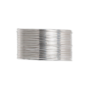 wire, sterling silver, dead-soft, round, 20 gauge. sold per 25-foot spool.
