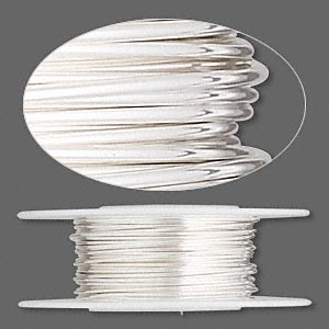 wire, sterling silver, dead-soft, round, 21 gauge. sold per pkg of 25 feet.