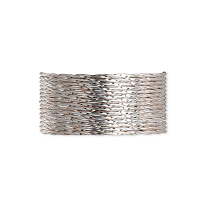wire, sterling silver, dead-soft, twisted round, 19 gauge. sold per pkg of 5 feet.