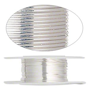 wire, sterling silver-filled, dead-soft, round, 24 gauge. sold per 100-foot spool.