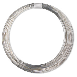wire, sterling silver-filled, full-hard, round, 18 gauge. sold per pkg of 100 feet.