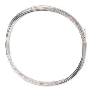 wire, sterling silver-filled, full-hard, round, 26 gauge. sold per 100-foot spool.