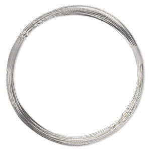wire, sterling silver-filled, half-hard, round, 22 gauge. sold per 100-foot spool.