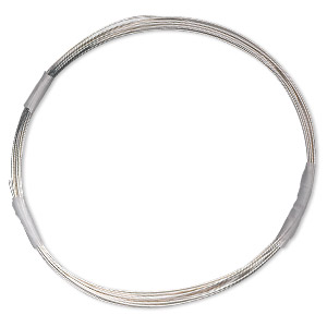 wire, sterling silver-filled, half-hard, round, 26 gauge. sold per 10-foot spool.