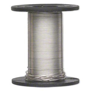wire, sterling silver-filled, half-hard, round, 28 gauge. sold per 1-ounce spool, approximately 100 feet.