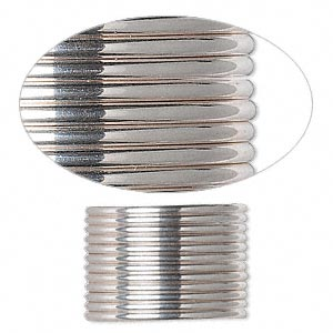 wire, sterling silver, half-hard, half-round, 14 gauge. sold per pkg of 5 feet.