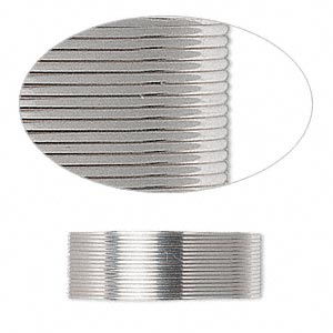 wire, sterling silver, half-hard, half-round, 24 gauge. sold per pkg of 5 feet.