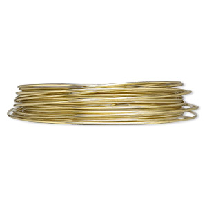 wire, zebra wire™, brass, gold color, round, 16 gauge. sold per 6-yard spool.