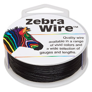 wire, zebra wire™, color-coated copper, black, round, 30 gauge. sold per 1/4 pound spool, approximately 215 yards.